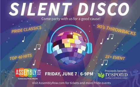 fba25a75647 Somerville Assembly Row Pride Silent Disco