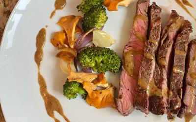 Steak Au Poivre: Steak & Sherry Cream Sauce