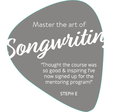 Master the Art of Songwriting - Text on Plectrum