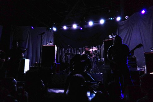 """Deafheaven's whirring black metal was a significant change from Inter Arma, but the crowd seemed to break out of its swaying trance as """"Brought to the Water"""" opened the set."""