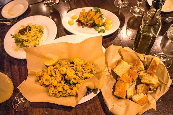 food at City Cellar restaurant