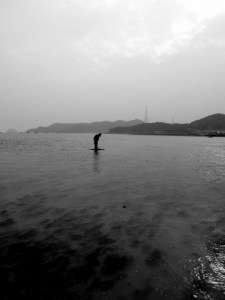 Man in the water