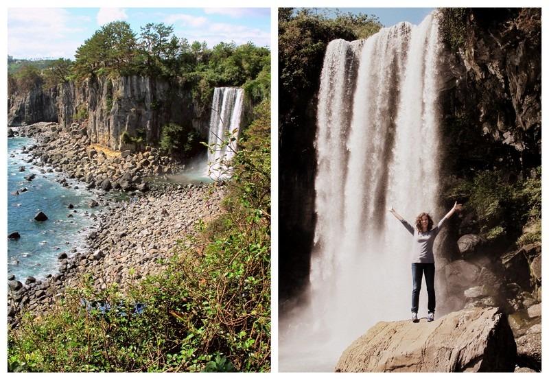 Jeju, Korea: Jeongbang Waterfall