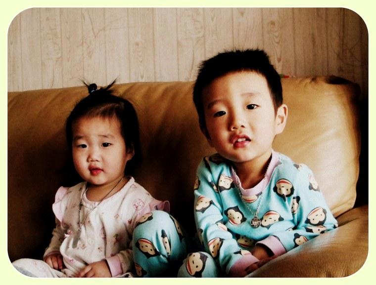 Korean Family, Niece and Nephew