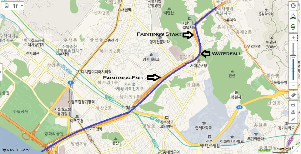 Map of the Hongecheon