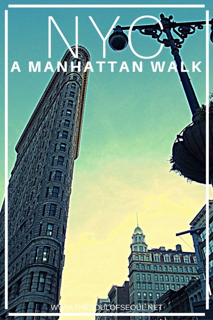 New York City: A Manhattan Walk: A trip to NYC: Central Park, Flatiron and all of the must see places in Manhattan are an easy walk to along streets to see. Visit Manhattan, New York City and walk to see the sites like a local.