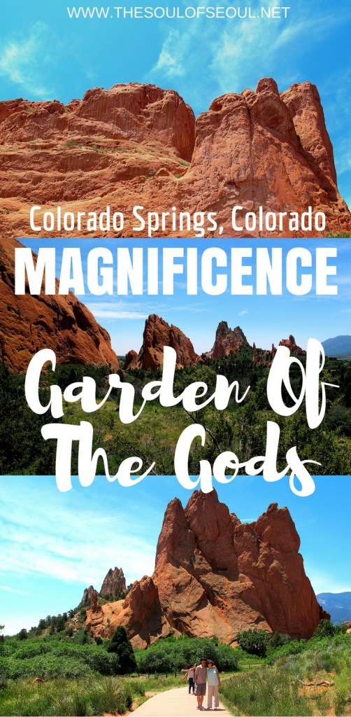 Garden Of The Gods, Colorado Springs, Colorado: Garden of the Gods near Denver, Colorado is a must visit. The red rocks are stunning and the landscape breathtaking. Any tourist or traveler must stop in Garden of the Gods to see the breathtaking natural views.