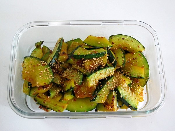 Korean Cooking: Food, Pumpkin Side Dish 호박볶음