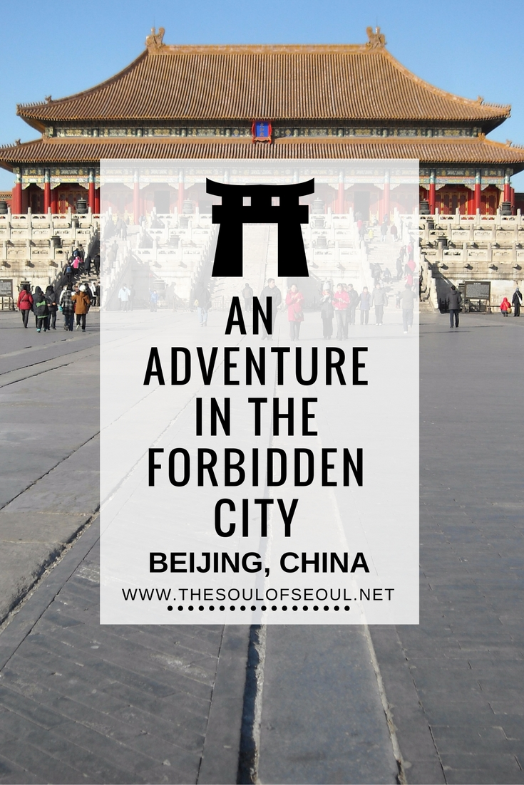 An Adventure In The Forbidden City: Beijing, China: Three girls visit Beijing: The Forbidden City, or Zijin Cheng, is a must see on any list of sites in Bejing and is massive, though we had no doubt that it would be. Female travelers abroad. Expats travel to China in the middle of winter.