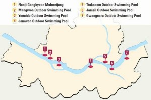 Han River Swimming Pools Map