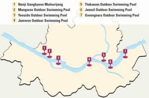 Han River Swimming Pools Map