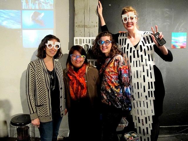 Hallie Bradley, Mia Pak, Molly Waters and artists Amanda Schutze