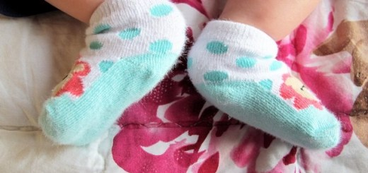 Baby Feet in cute socks