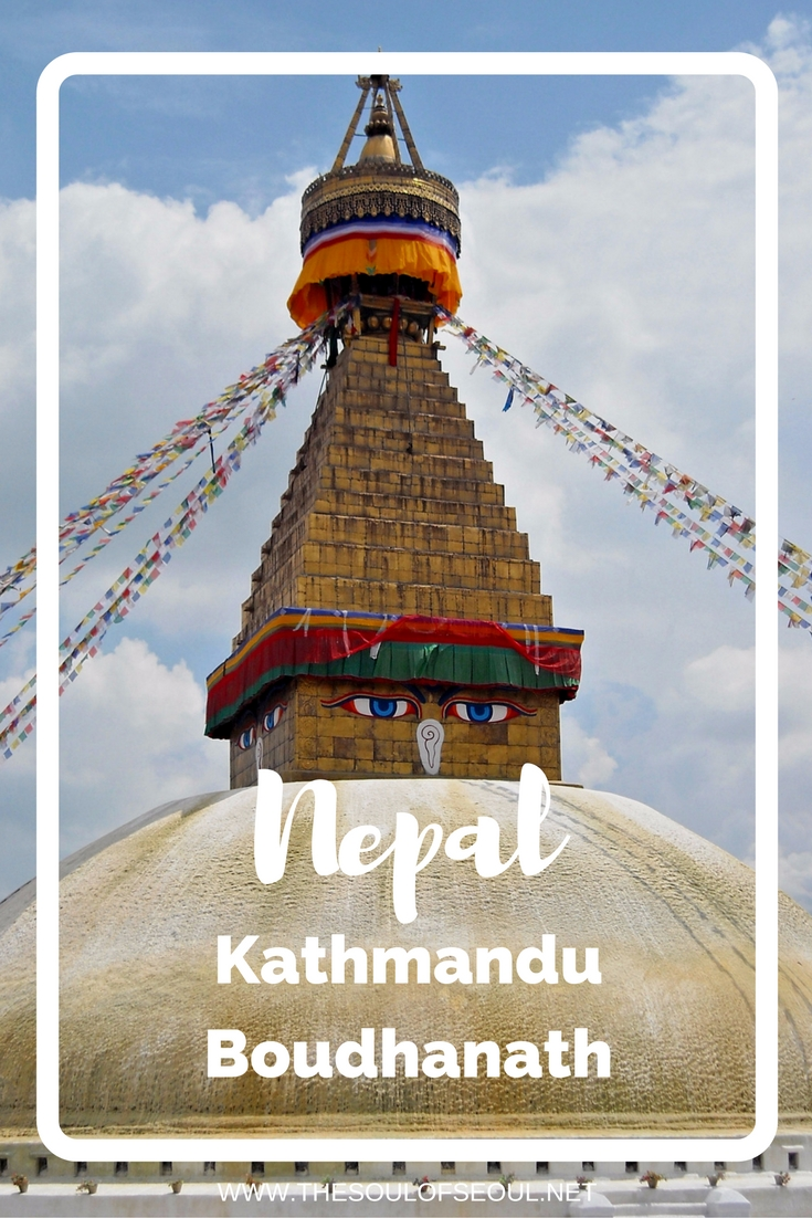 Boudhanath, Kathmandu, Nepal: Two girls take on Nepal. Boudhanath is the largest stupa in Nepal [and the holiest Tibetan temple outside of Tibet]. Female Travel Bloggers. Traveling to Nepal and what to see. Must See in Kathmandu, Nepal.
