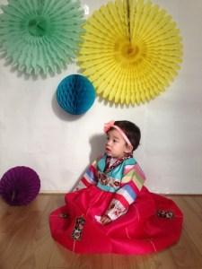 baby in a Korean Hanbok