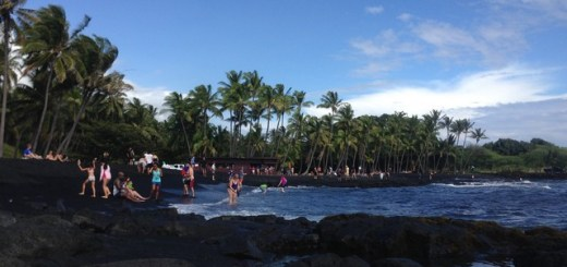 Black Sand Beach, Kona, Hawaii