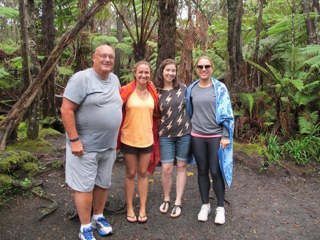 Volcano, Big Island, Hawaii, USA, family photo