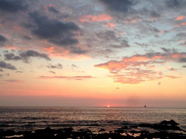 White Sands Beach, Big Island, Hawaii, USA, sunset