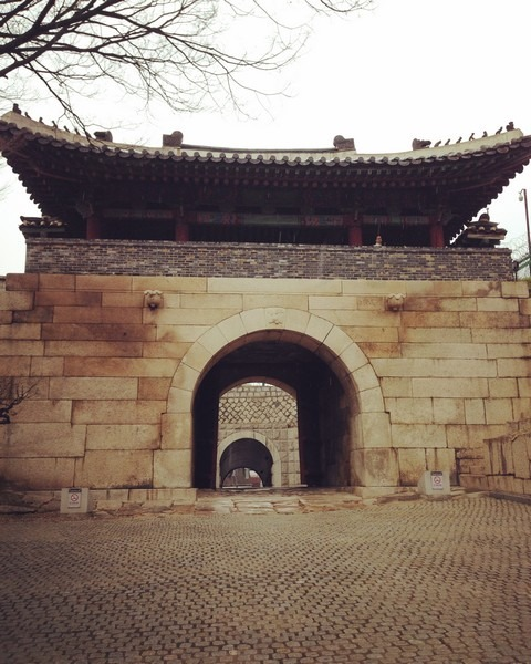 Seoul Fortress Wall, Changuimun Gate, Seoul, Korea