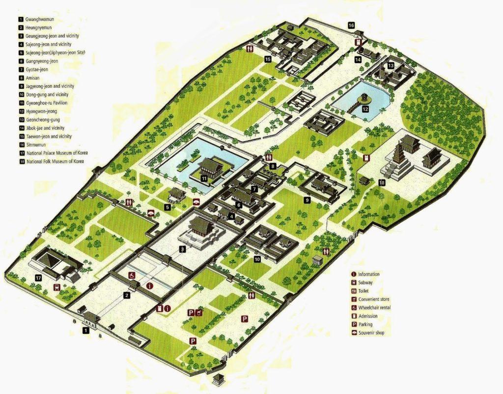 Gyeongbokgung Palace Map English