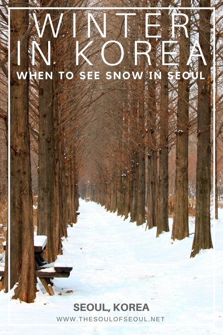 Winter In Korea, When To See Snow In Seoul: One Of My Most Frequently