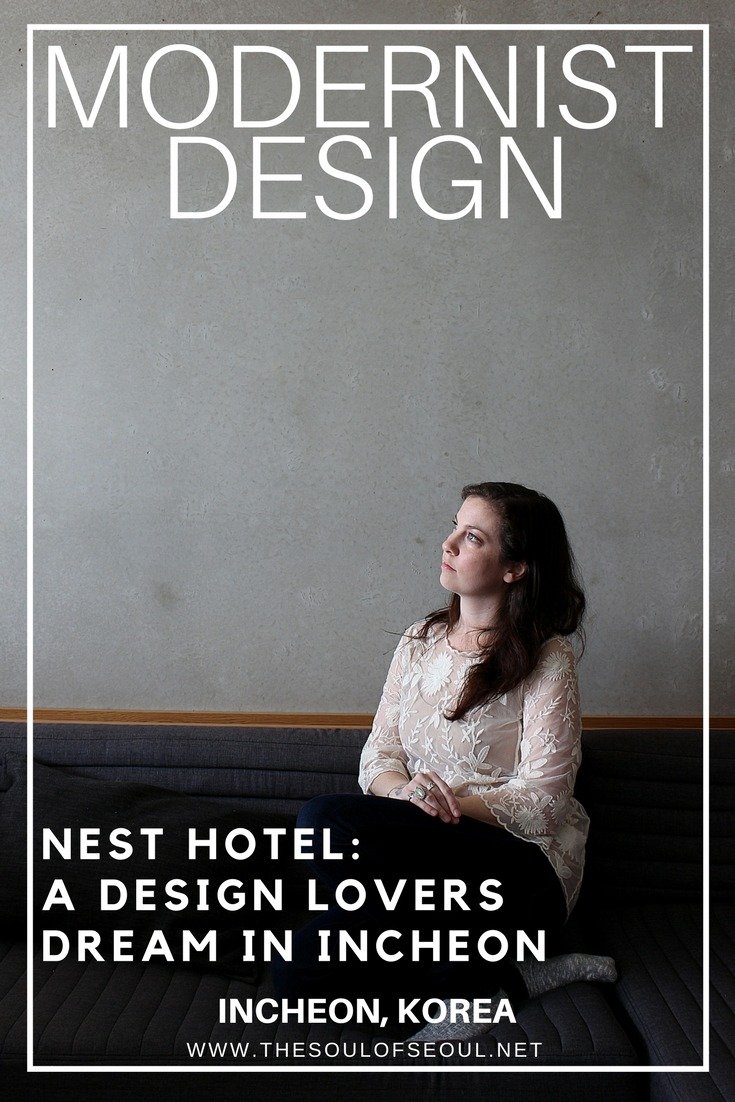 Nest Hotel: A Modernist Design Lovers Dream in Incheon, Korea: The Nest Hotel offers a modern and simple retreat in Incheon, Korea. An elegant interior and industrial facade make for an amazing Design Hotel treat just outside of Seoul.