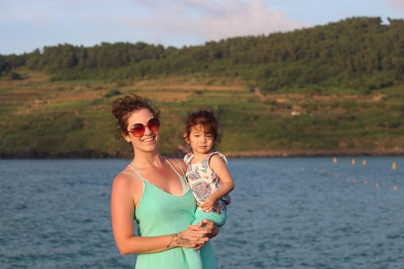 Hallie Bradley at Hamdeok Beach, Jeju, Korea