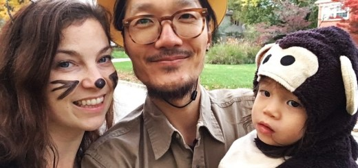 Halloween Costumes: Hallie, Jae-oo and baby