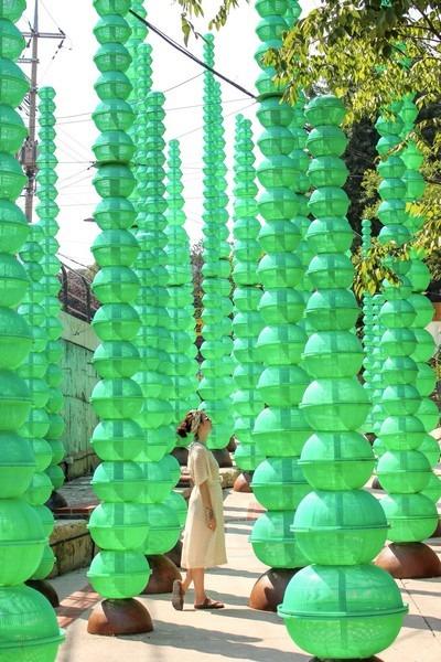 Choi Jeong Hwa: 'Forest' in Seongbuk-dong, Seoul, Korea