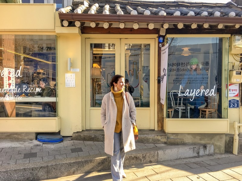 Cafe Layered, Bukchon, Seoul, Korea: Hallie Bradley