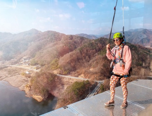 Gimcheon, Gyeongsanbuk-do, Korea: Rainbow Zip Wire & Sky Walk: Hallie Bradley