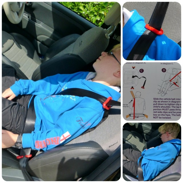 fitting the Bubble Bum car seat