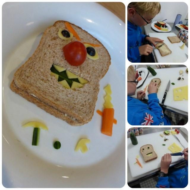 monster sandwich actimel for kids