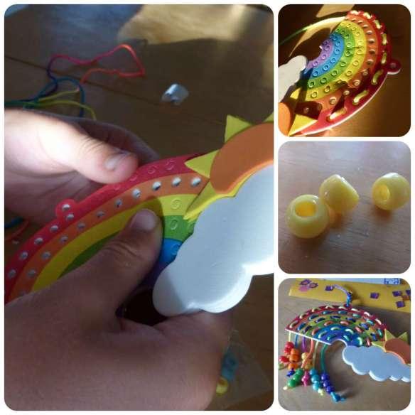 rainbow holiday craft