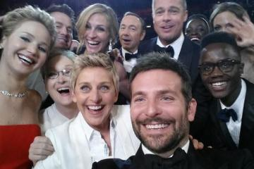 ellen, oscars, retweets, records, celebs