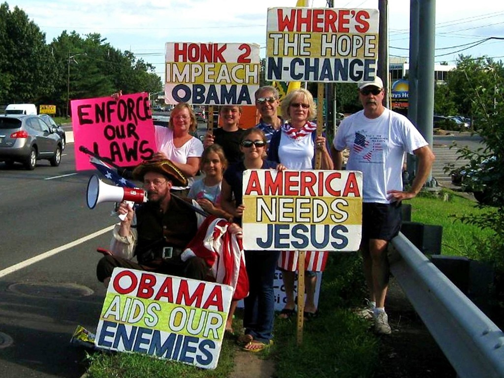 Image result for anti obama protests