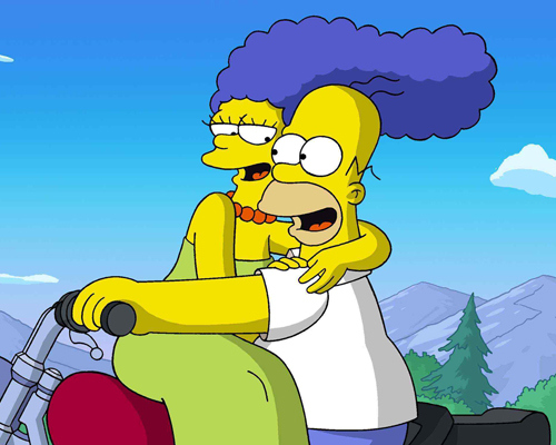Image result for homer and marge