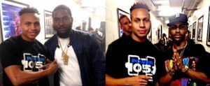 """Sharieff """"The Fitness Sheriff"""" with Dreamchasers Records artist Omelly and Big Sean."""