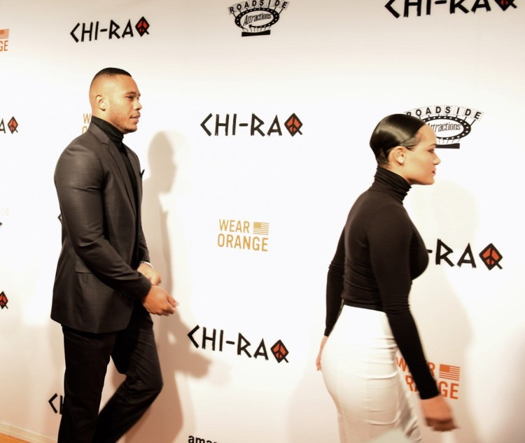 'Empire's' Trai Byers and Grace Gealy - 'Chi-Raq' World Premiere, Chicago, November 22, 2015, The Chicago Theater Photo credit: Juan Anthony Images