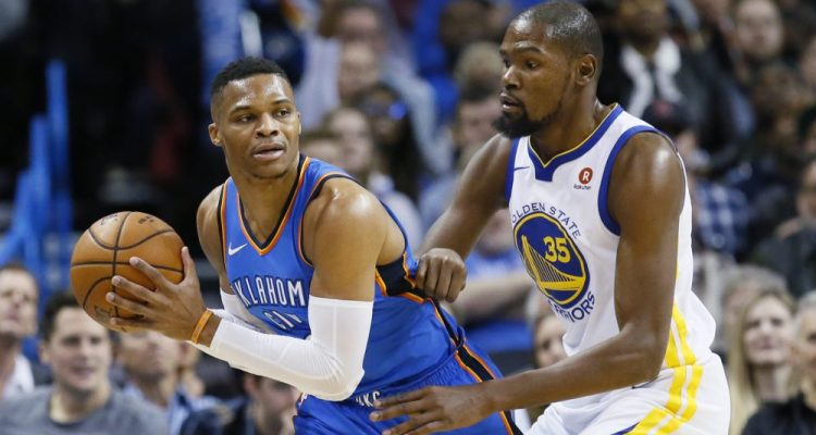 Kevin Durant and Russell Westbrook Go Head To Head In Heated Exchange Of Words
