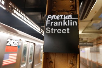 Aretha Franklin Honored in New York City Subway Graffiti
