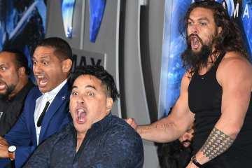 Jason Momoa Wows with Haka at 'Aquaman' Premiere