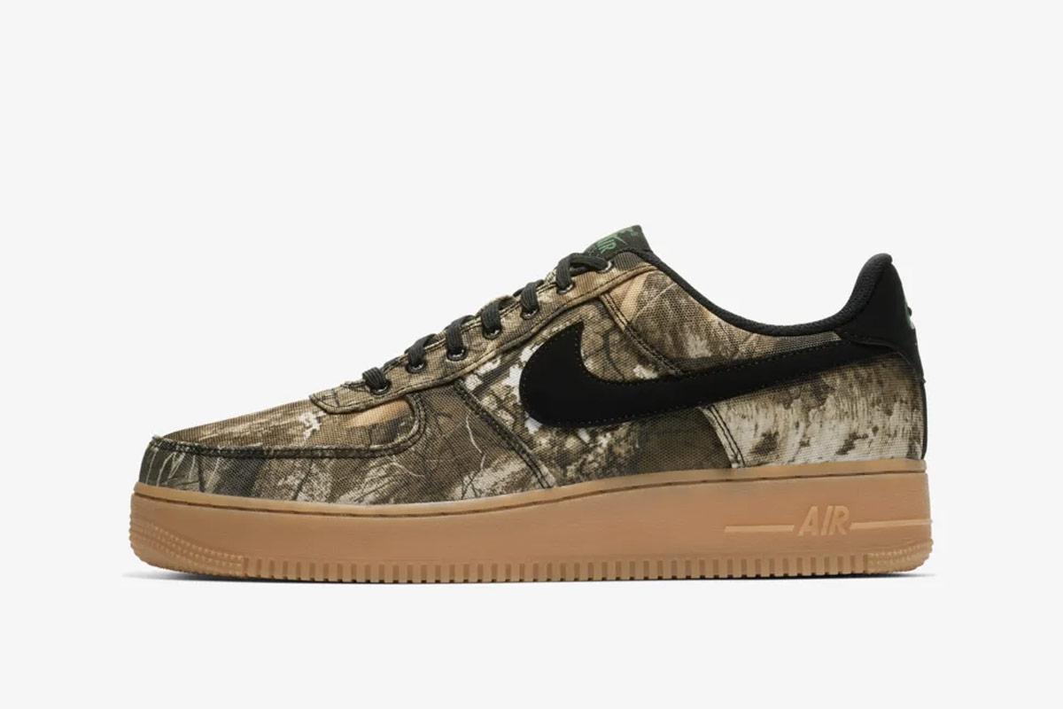 2019 Nike Air Force 1 Low Realtree Black Men