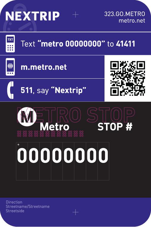 Nextrip braille plaque.