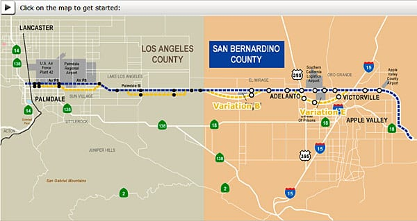 Click on image to try out Metro's new High Desert Corridor Interactive Map.
