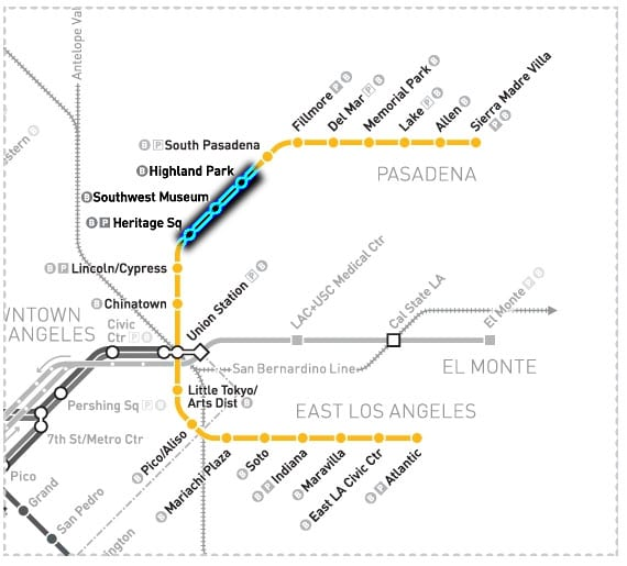 Buses, not trains, will serve Highland Park, Southwest Museum and Heritage Square stations of the Metro Gold Line this weekend. Just to be sure, plan 20 to 40 minutes extra to get where you're going.
