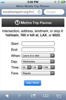 Mobile Trip Planner