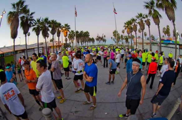 This year's race ends at the ocean. Photo via L.A. Marathon's Official Facebook