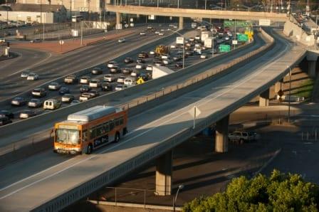 ExpressLanes near Union Station, downtown L.A. Photo by Josh Southwick/Metro