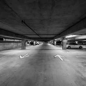 There's also a four-story underground garage for the public which rarely fills up.